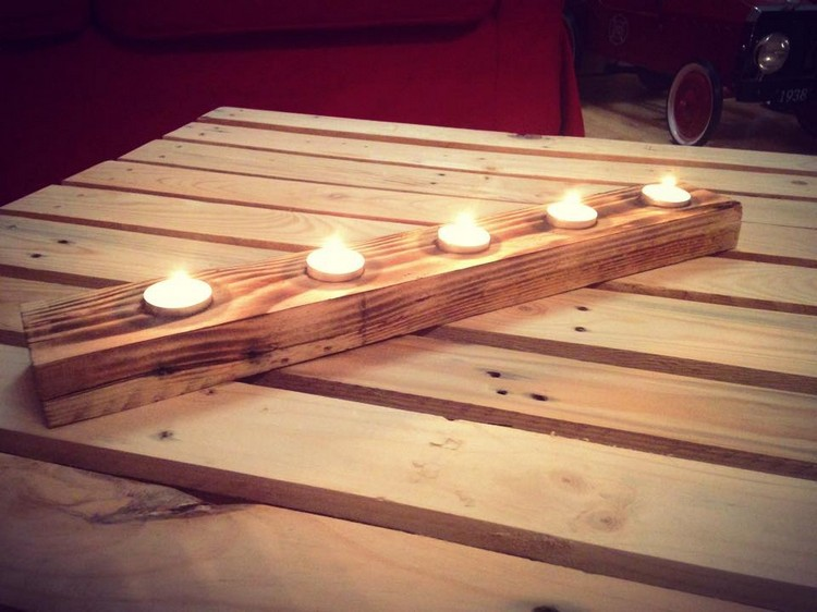 candle holders, diy candle holders, and pallet candle holders image