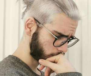boy, hair, and glasses image