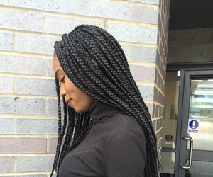 beautiful, girl, and protective hairstyle image