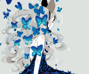 butterfly, anime, and art image