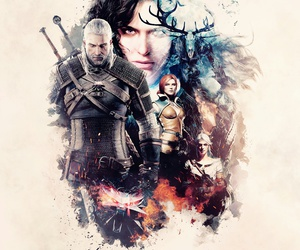 yen, white wolf, and the witcher image