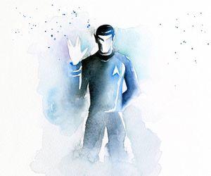 spock, star trek, and watercolor image
