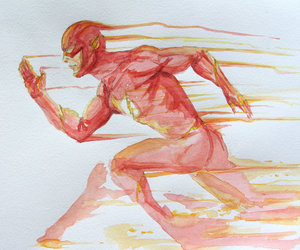cool, flash, and watercolor image