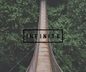 infinite, bridge, and wallpaper image