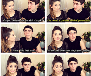 zoella, one direction, and alfie image