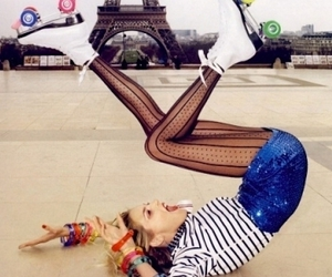 bow, eiffel, and girl image