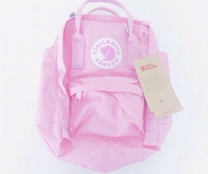 pink, pale, and backpack image