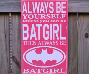 batgirl, pink, and quote image