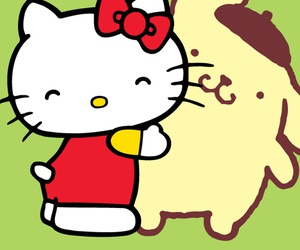 hello kitty, wallpaper, and cartoon image