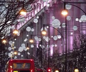 london, christmas, and lights image