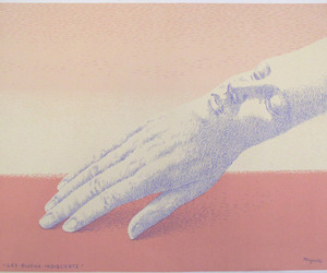 art, face, and hand image
