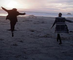 beach, Karlie Kloss, and set image