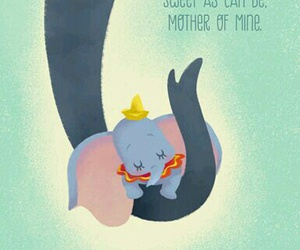 disney, dumbo, and mother image