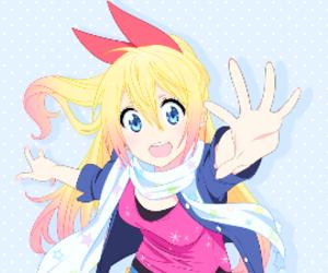 anime, anime girl, and chitoge kirisaki image
