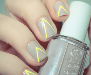 nails, essie, and yellow image
