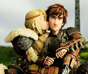 how to train your dragon, astrid, and hiccup image
