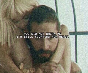 broken, couple, and peace image