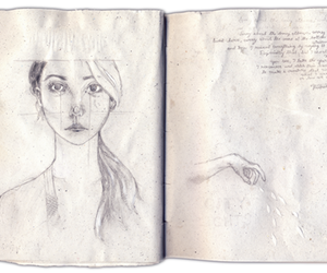 book, drawing, and fairytales image