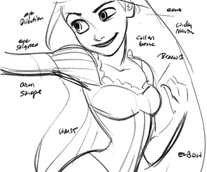 disney, drawing, and rapunzel image