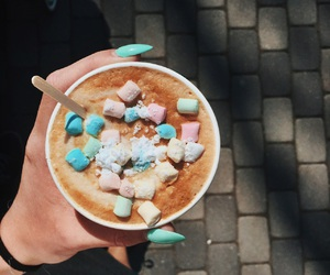 coffee, marshmallow, and tasty image
