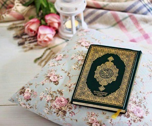 allah, quraan, and flowers image