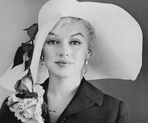Marilyn Monroe, vintage, and hat image