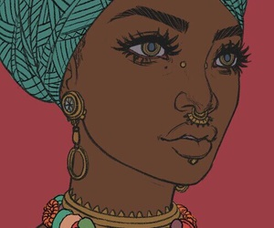 art, African, and beauty image