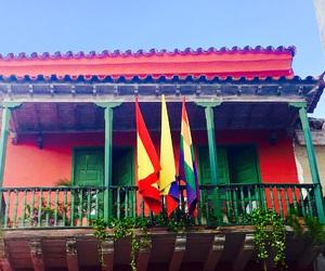 balcony, cartagena, and colombia image