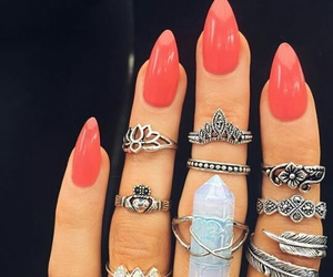 jewerly, rings, and nails image