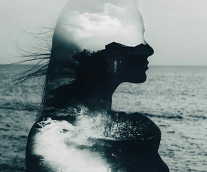 beauty, ocean, and lost image