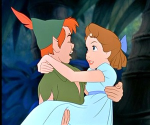 peter pan, wendy, and disney image