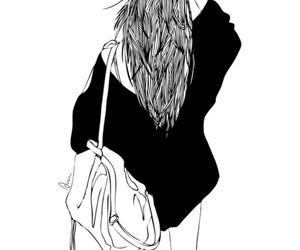 girl, drawing, and tumblr image