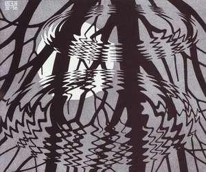 art, mirror, and MC Escher image