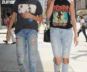 kendall jenner, hailey baldwin, and ac dc image