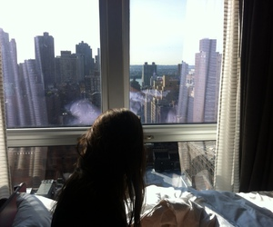 city, bed, and tumblr image