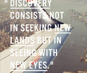 quotes, discovery, and travel image