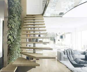 architecture, interior design, and stairs image