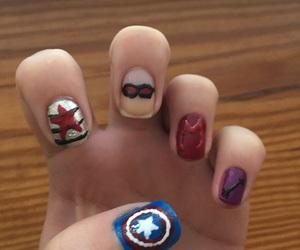 nail art, nails, and captain america civil war image