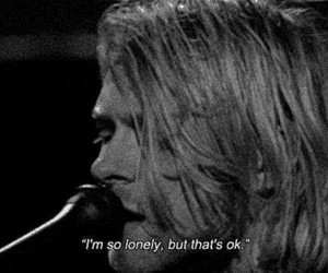 nirvana, kurt cobain, and lonely image