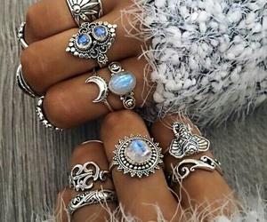rings, boho, and style image