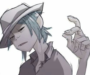 2d, gorillaz, and stuart pot image