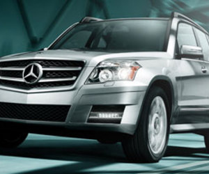 mercedes-benz and glk- class suv image
