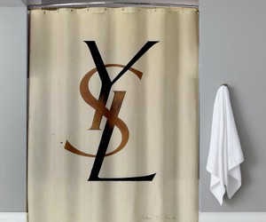 art, decoration, and shower curtain image