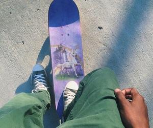 unicorn and skateboard image