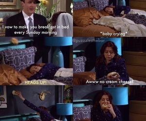 bed, himym, and lily image