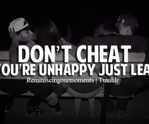 cheat, leave, and quote image