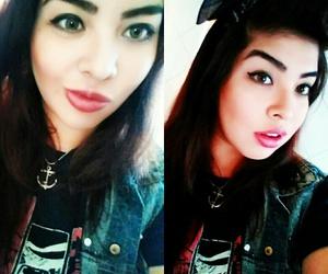 anchor, makeup, and rockabilly girl image