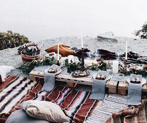 food, picnic, and beach image