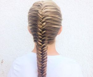 beauty, fishtail, and hair image
