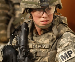 military and women image